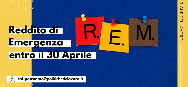 Reddito di emergenza: domanda entro il 30 aprile